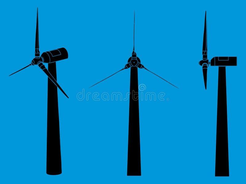 Terraplén del negro de la torre del viento libre illustration