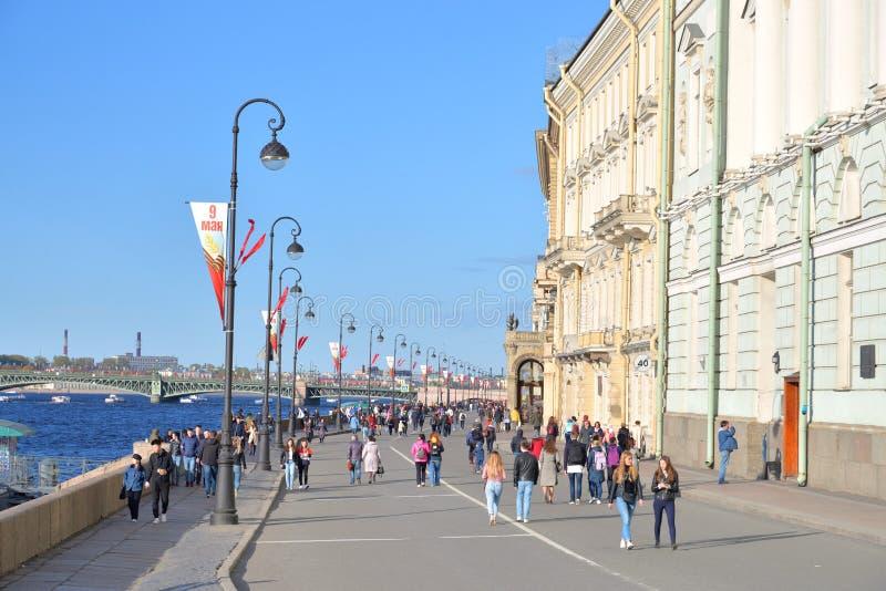 Terraplén del palacio en Victory Day foto de archivo