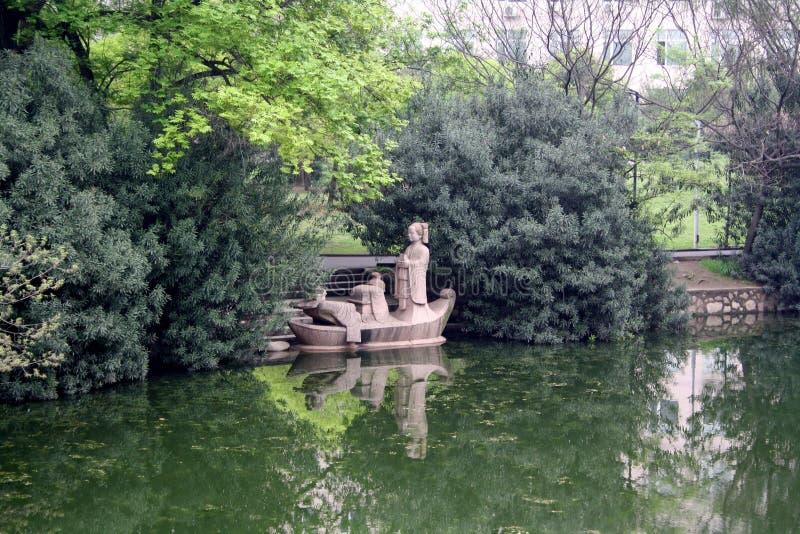 Terraplén del río de Yangtze. imagenes de archivo