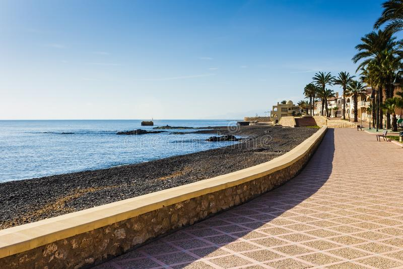 Terraplén en el Puerto España fotos de archivo