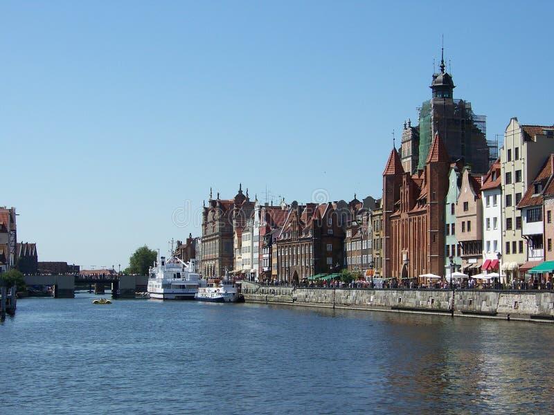 Terraplén en Gdansk foto de archivo
