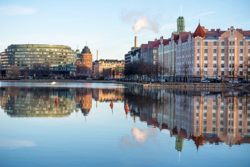 Terraplén en Helsinki fotografía de archivo libre de regalías