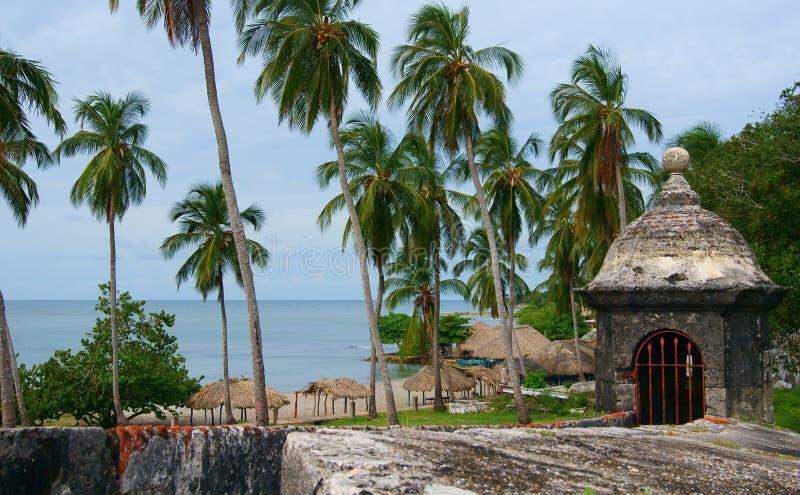 Terraplén, Fortaleza San Fernando Fotografía de archivo