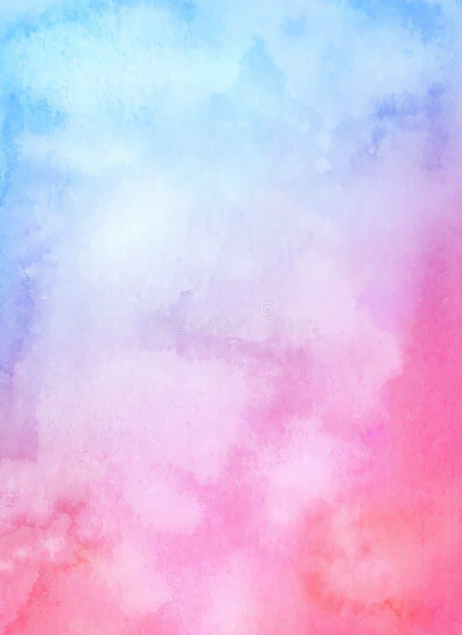 Terraplén púrpura azul del watercolour de la pendiente ilustración del vector
