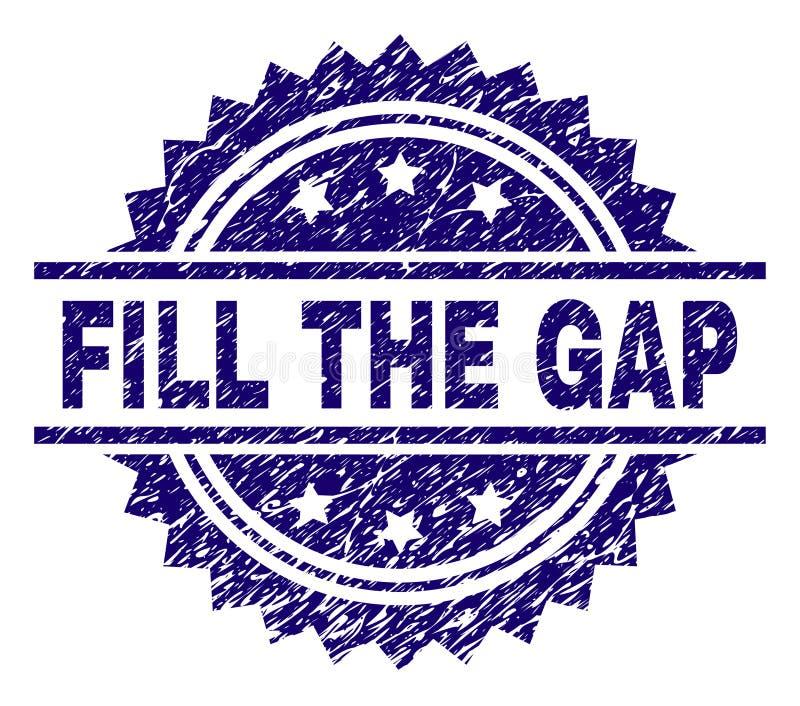 TERRAPLÉN texturizado Grunge el sello del sello de GAP libre illustration
