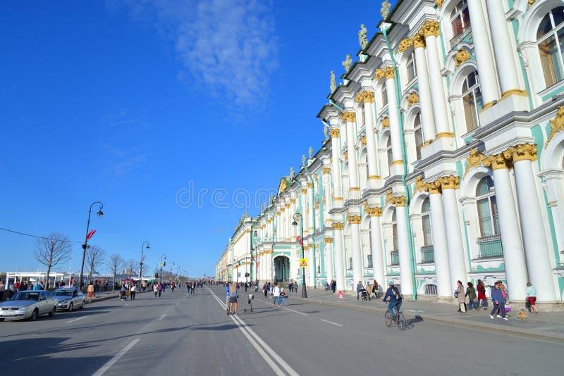 Terrapl?n del palacio en Victory Day fotografía de archivo