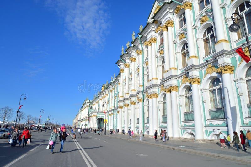 Terrapl?n del palacio en Victory Day foto de archivo