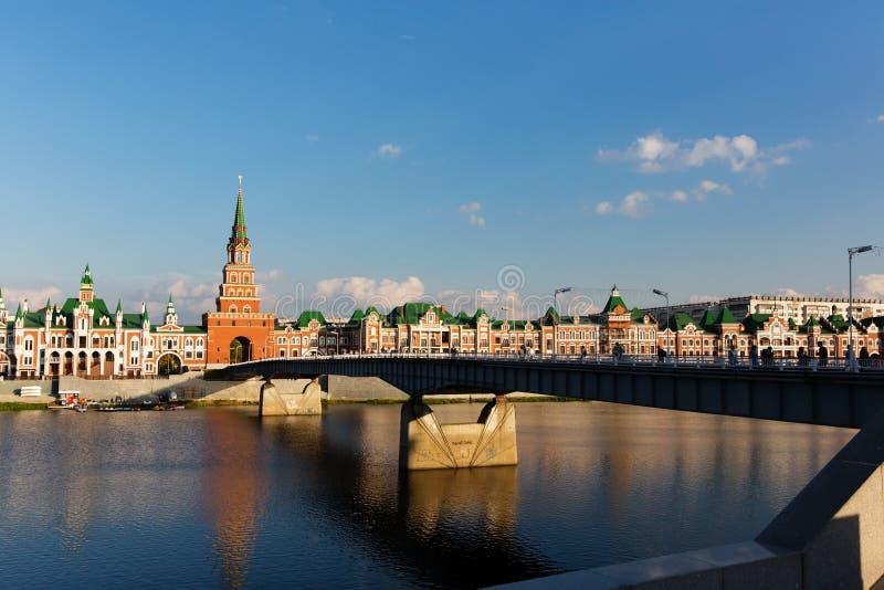 Terraplenagem Bruges no Yoshkar-Ola, Rússia imagens de stock royalty free