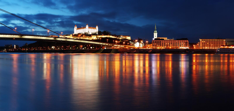 Terraplenagem de Bratislava imagem de stock