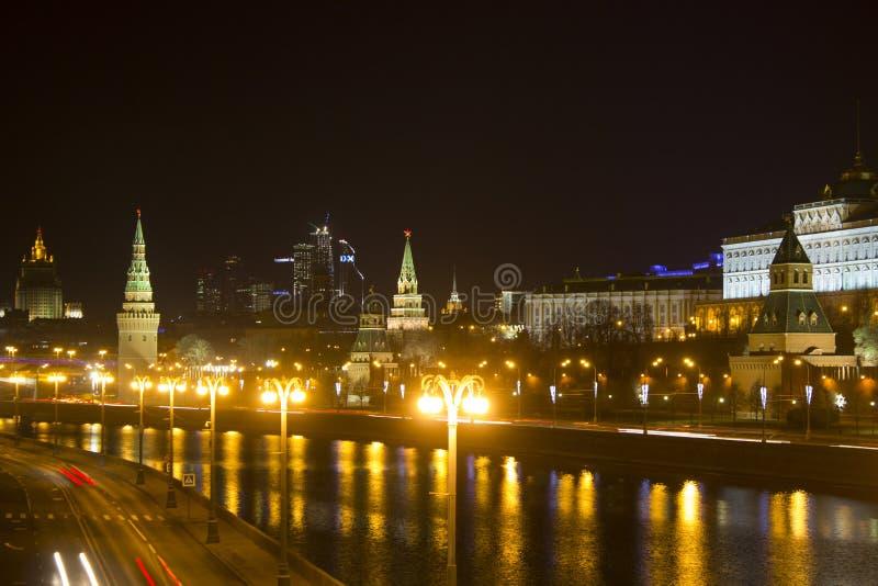 Terraplenagem de Kremlin Rússia moscow fotos de stock royalty free