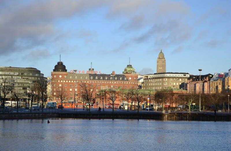 Terraplenagem em Helsínquia, Finlandia fotos de stock royalty free