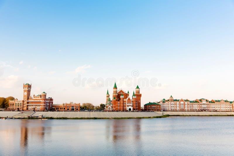 Terraplenagem no Yoshkar-Ola Rússia foto de stock