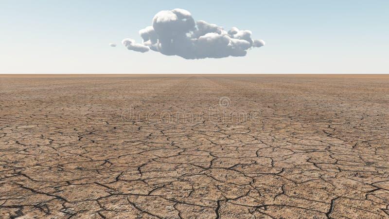 Terras áridas ilustração stock