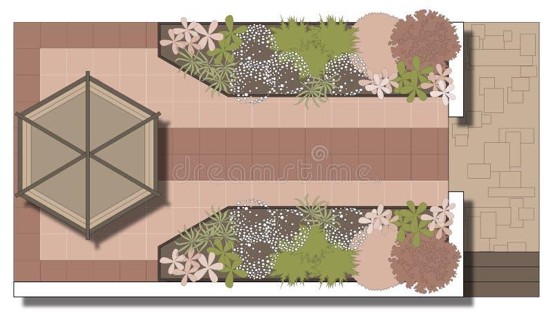 Terras royalty-vrije illustratie