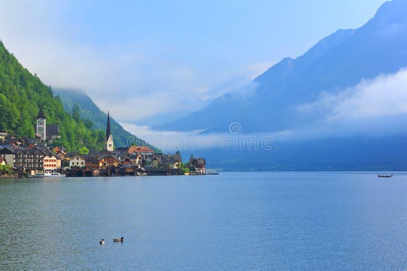 Terras culturais de Hallstatt-Dachstein/Salzkammergut imagem de stock royalty free