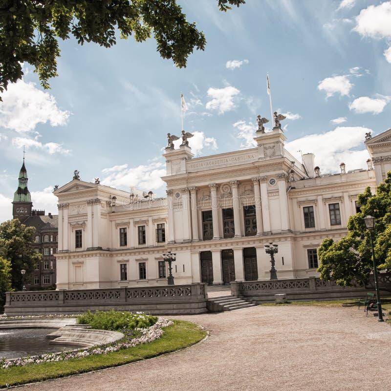 Terras da universidade de Lund foto de stock