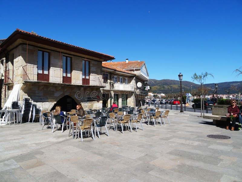 Terras overzeese voorzijde - Muros - Spanje stock foto's