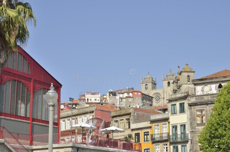 Terras van Ferreira Borges Market stock afbeelding