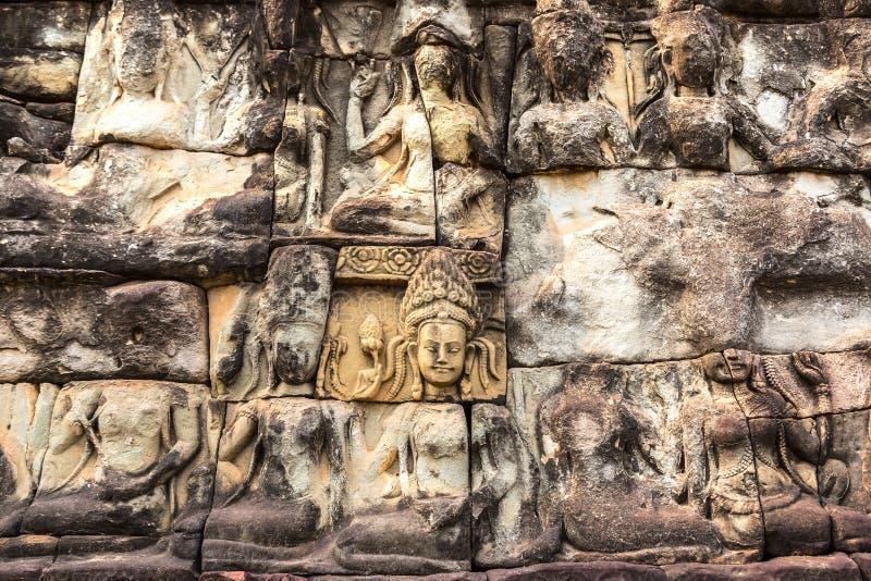 Terras van Olifanten in Angkor Wat royalty-vrije stock afbeeldingen
