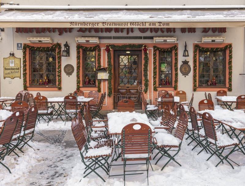 Terrasse congelée photographie stock libre de droits