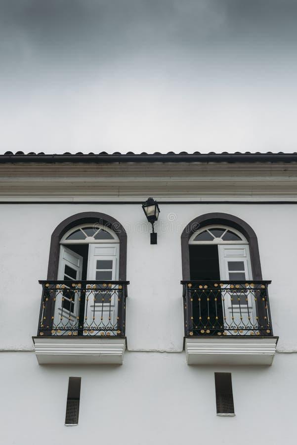 Terrasse dans Ouro Preto, Minas Gerais, Brésil photo stock