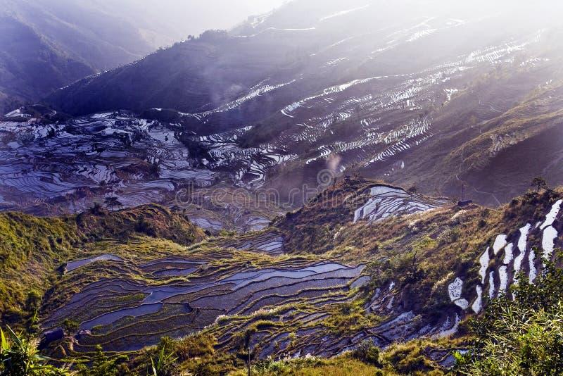 Terrasse de Hani, Yunnan, China010 photos stock