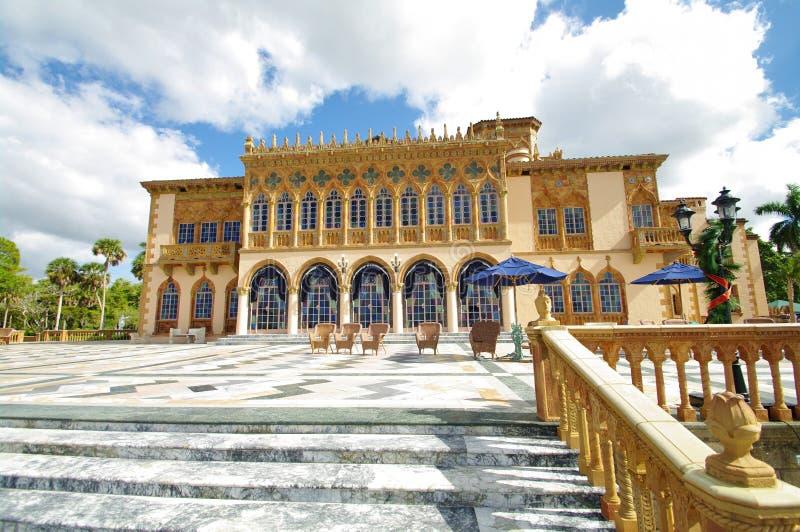 Terrasse de marbre du palais venitian ringling image stock