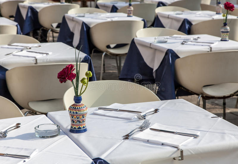 Terrasse De Restaurant Photo stock