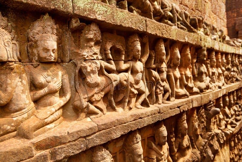 Terrasse des Aussätzig-Königs, Angkor Wat, Kambodscha stockfoto