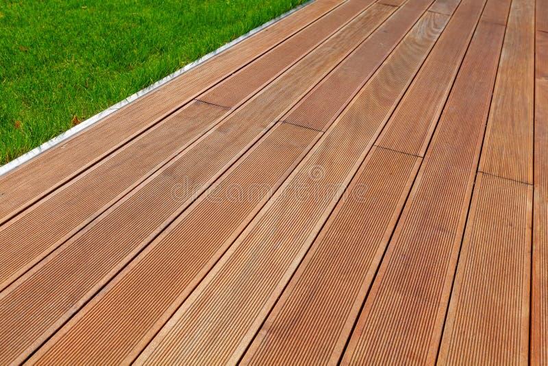 Terrasse en bois image stock