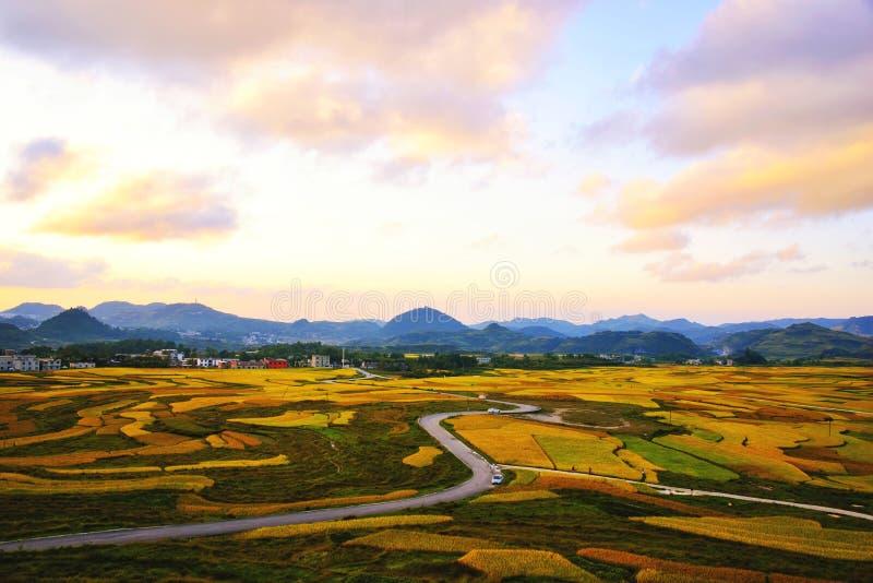 Terrasse an Guizhou-Porzellan stockfoto