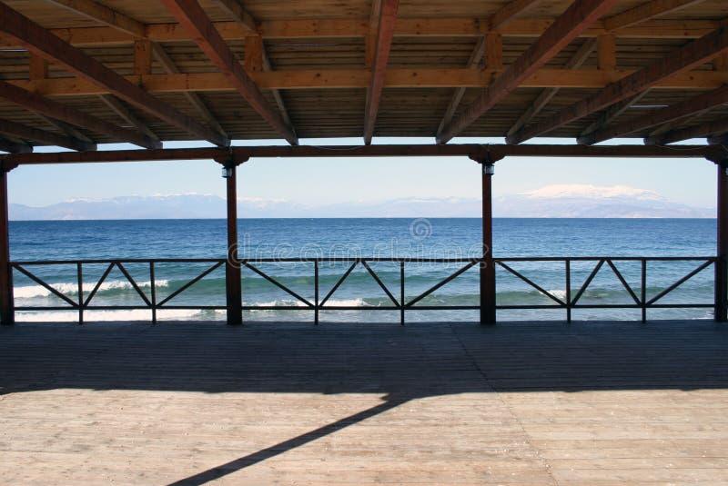 Terrasse Par La Mer Photo libre de droits
