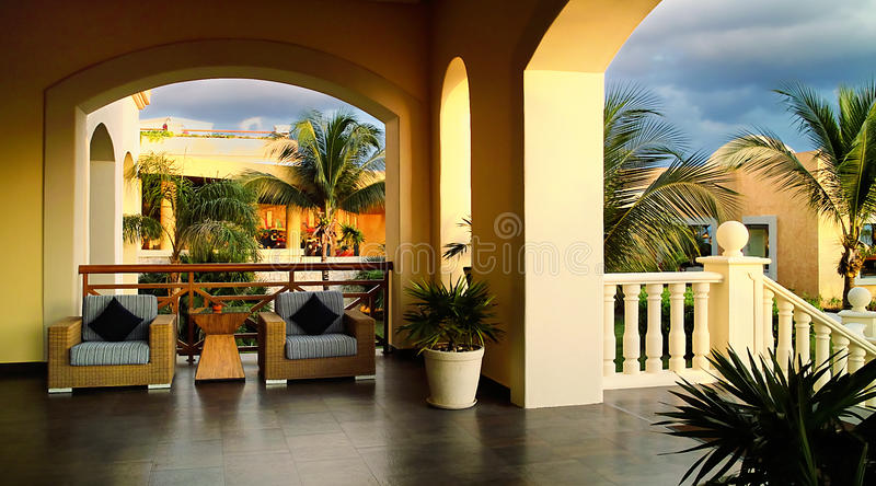 Terrasse tropicale images stock