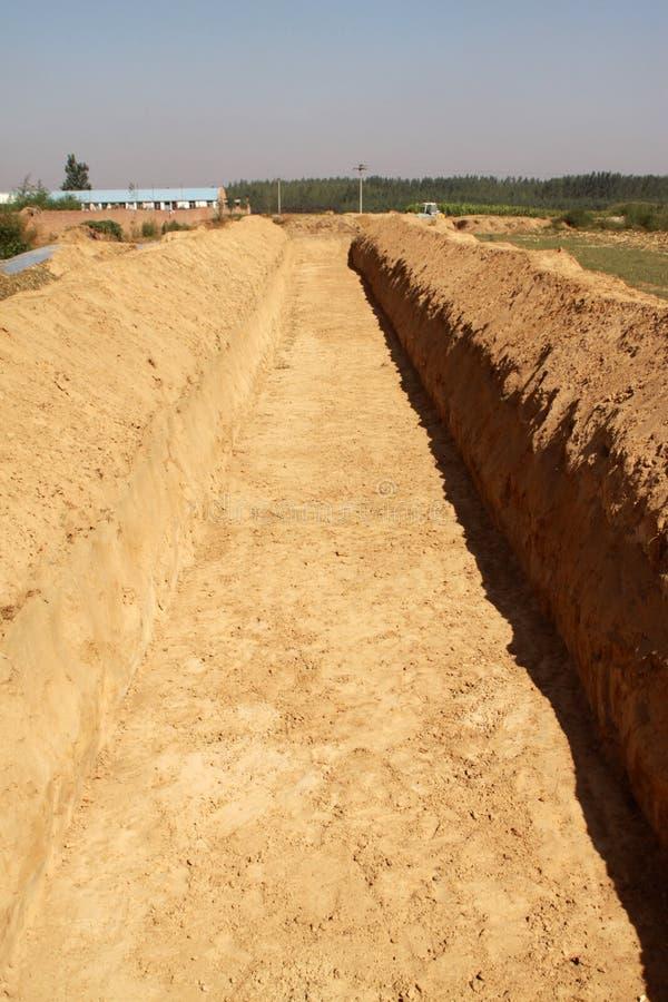 Terrassement dans des zones rurales photos stock
