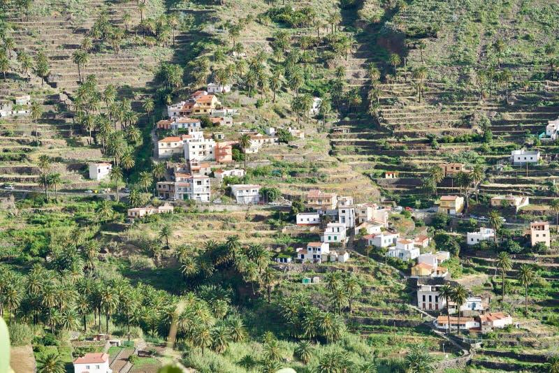 Terrassen van Valle Gran Rey royalty-vrije stock foto's