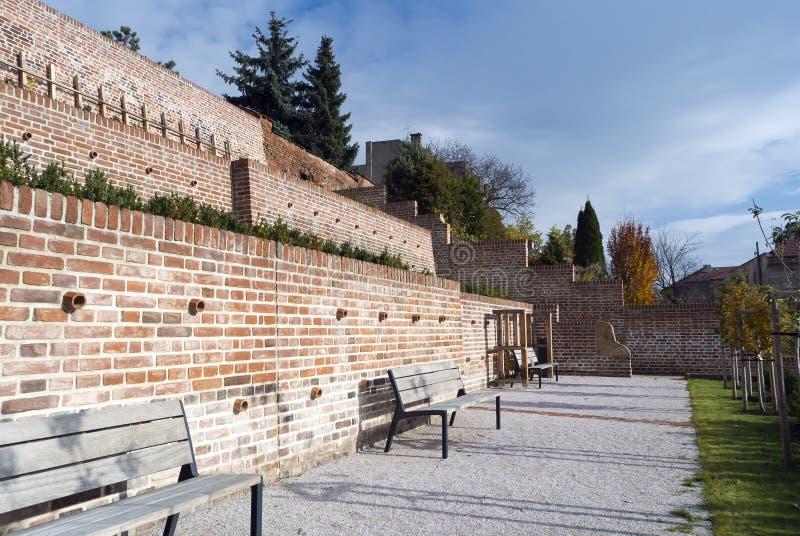 Terrasser i Hradec Kralove arkivbild