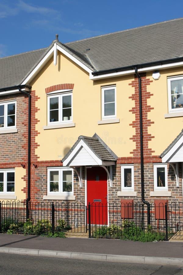 terrasserad ny rad för home hus arkivfoton
