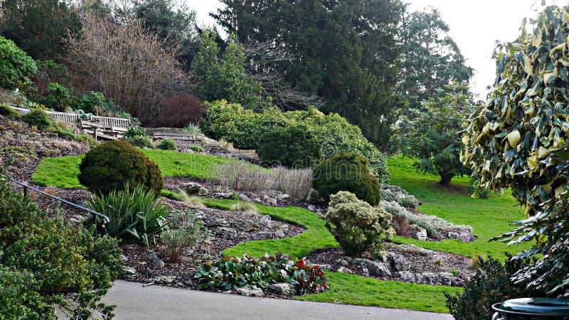 Terrasserade trädgårdar nära Richmond Hill Greater London royaltyfria bilder