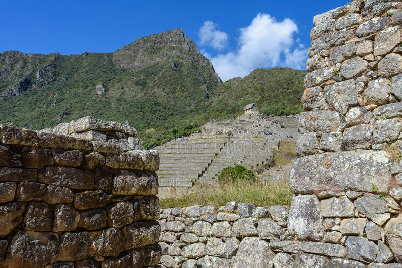 Terrasses agricoles chez Machu Picchu photo libre de droits