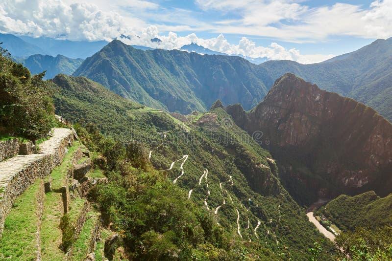Terrasses d'Inca dans Machu Picchu photographie stock
