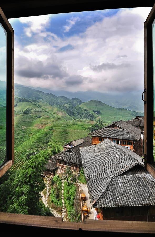 Terrasses de riz, Guilin, Chine images libres de droits