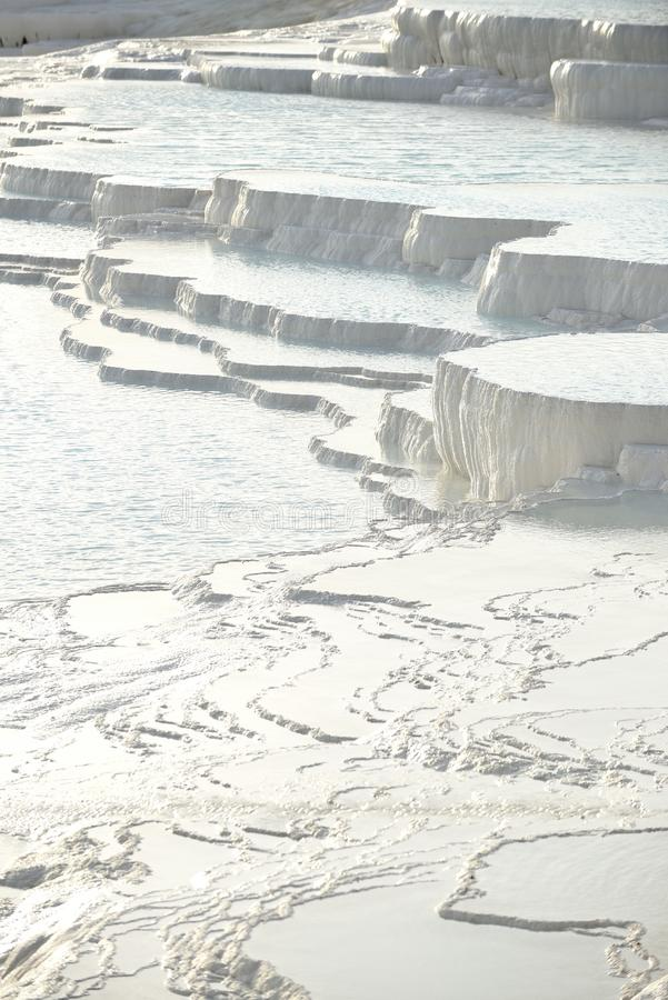 Terrasses de travertin de Pamukkale images stock