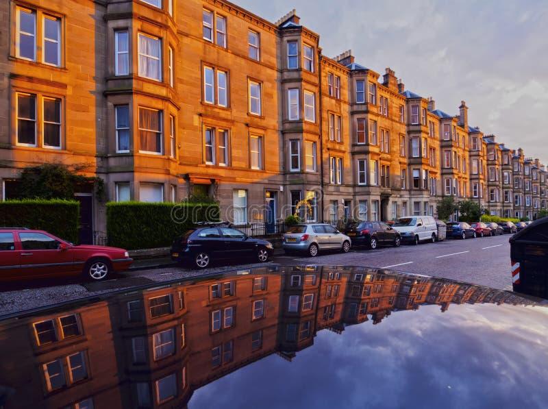 Terrasvormige Huizen in Edinburgh royalty-vrije stock afbeeldingen