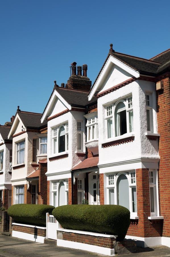 Terrasvormige Huizen in Londen stock foto's