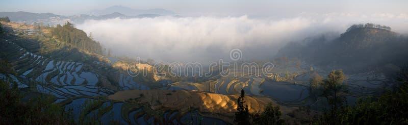 Terraza de China Yunnan Hani imagen de archivo libre de regalías