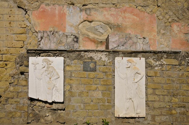Terraza de Herculano, Campania, Italia fotografía de archivo libre de regalías