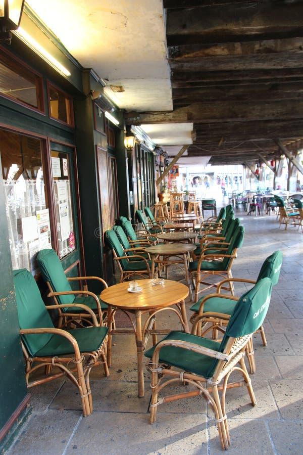 Terraza de la cervecería en Francia fotografía de archivo