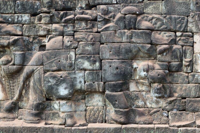 Terraza De Los Elefantes En Angkor Thom Camboya Foto De