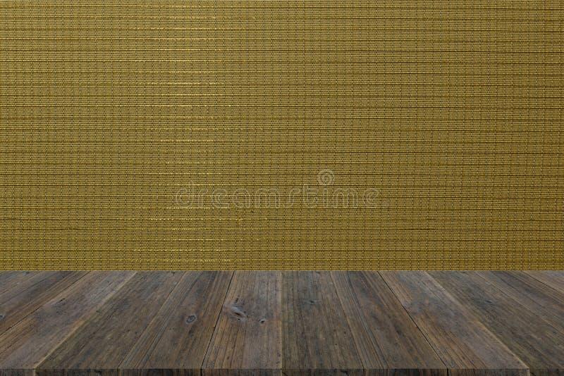 Terraza De Madera Y Textura Interior Del Papel Pintado