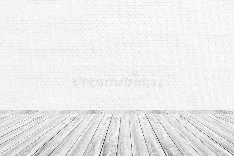 Terraza De Madera Y Textura Interior Del Papel Pintado Foto